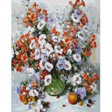 Живопись по номерам Городские цветы, 40x50, Белоснежка