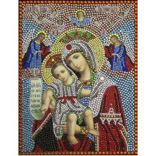 Вышивка термостразами Богородица достойно есть (милующая), Преобрана