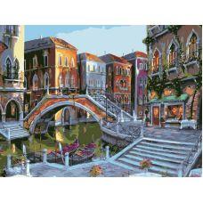 Живопись по номерам Городской пейзаж, 40x50, Белоснежка