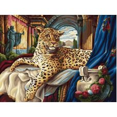 Живопись по номерам Римский леопард, 30x40, Белоснежка