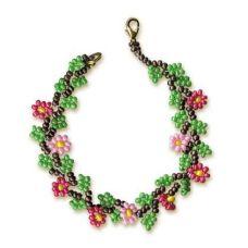 Набор для бисероплетения Браслет С цветами, Риолис