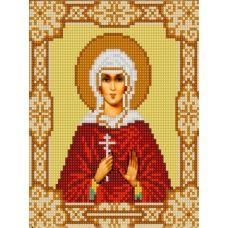 Ткань для вышивания бисером Святая Лидия, 15х18, Конек