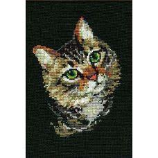 Набор для вышивания Серая кошка, 21x30, Риолис, Сотвори сама