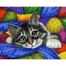 Раскраска Котик в лоскутках, 40x50, Белоснежка