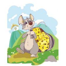Раскраска Мышка с сыром Анастасии Бойко, 30x40, Белоснежка