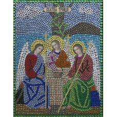 Алмазная вышивка термостразами Святая Троица, 28x22, Преобрана