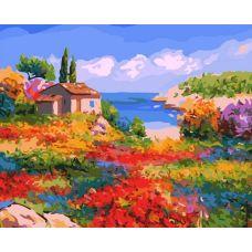 Живопись по номерам Солнечный Прованс, художник Жан-Марк Жаньячик, 40x50, Белоснежка