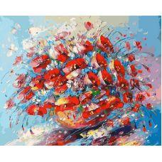 Живопись по номерам Цветочная палитра лета, 40x50, Белоснежка