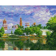 Живопись по номерам Новодевичий монастырь, 40x50, Белоснежка