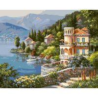 Живопись по номерам Вилла на берегу озера, 40x50, Белоснежка