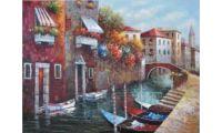 Алмазная мозаика Канал в венеции, 65x50, полная выкладка, JING CAI GE