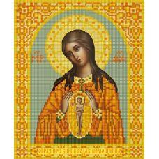 Ткань для вышивания бисером Богородица Помощница в родах, 20х25, Конек