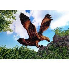 Вышивка бисером на шелке Орел, 27x38, FeDi