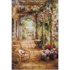 Вышивка крестиком Свидание в саду, 40x60, Риолис