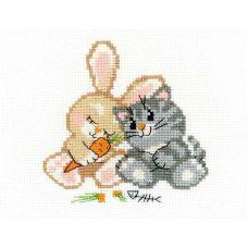 Набор для вышивания Любовь-морковь, 16x13, Риолис Веселая пчёлка