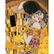 Набор для вышивания Поцелуй. По мотивам картины Г. Климта, 30x35, Риолис, Сотвори сама