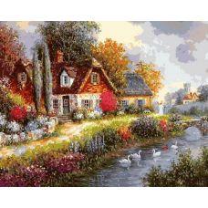 Раскраска Летний день, 40x50, Белоснежка
