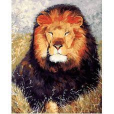 Живопись по номерам Царь зверей, 40x50, Белоснежка