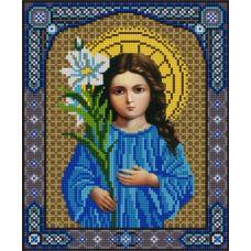 Ткань для вышивания бисером Богородица Трилетствующая, 20х25, Конек