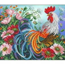 Набор для вышивания Красавец петух, 31x26, Русская искусница