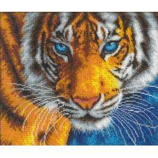 Вышивка бисером Взгляд тигра, 31x26, Русская искусница