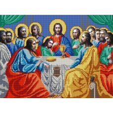Ткань для вышивания бисером Тайная Вечеря, 29х39, Конек