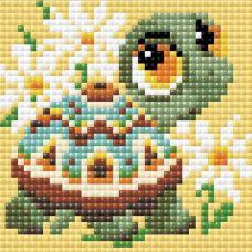 Алмазная мозаика Черепаха, 10x10, полная выкладка, Риолис