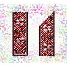 Флизелин водорастворимый Красное и черное 2, Confetti