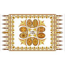 Ткань для вышивания бисером Рушник пасхальный 4, 35х60, Конек