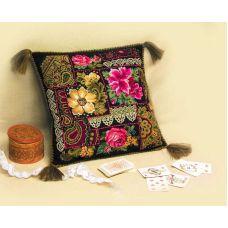 Набор для вышивания Подушка. Цветочная композиция, 40x40, Риолис, Сотвори сама