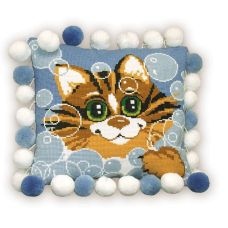 Набор для вышивания Подушка. Кот, 30x30, Риолис, Сотвори сама