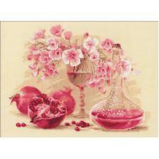 Набор для вышивания Розовый гранат, 40x30, Риолис, Сотвори сама