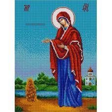Ткань для вышивания бисером Богородица Геронтисса, 29х39, Конек