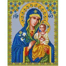 Ткань для вышивания бисером Богородица Неувядаемый цвет, 20х25, Конек