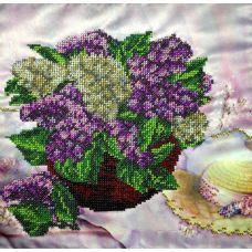 Вышивка бисером на шелке Сиреневое настроение, 28x28, FeDi