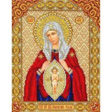 Вышивка бисером Богородица В родах помощница, 20x25, Паутинка
