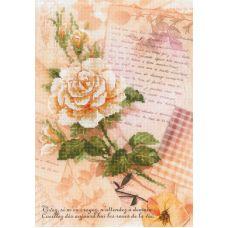Набор для вышивания Письма о любви. Роза, частичная вышивка, 21x30, Риолис, Сотвори сама