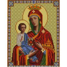 Ткань для вышивания бисером Богородица Троеручица, 20х25, Конек