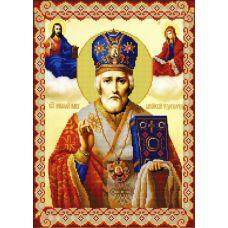Ткань для вышивания бисером Святой Николай Мирликийский, 29х39, Конек