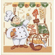 Набор для вышивания Веселый повар-2, 20x20, Овен