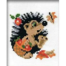 Набор для вышивания Ежик с корзинкой, 15x18, Риолис, Сотвори сама
