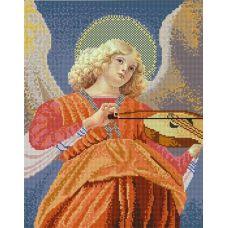 Ткань для вышивания бисером Ангел играющий на виоле, 29x39, Конек