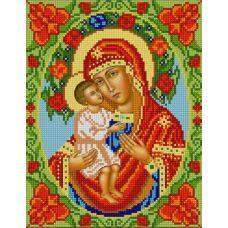 Ткань для вышивания бисером Богородица Жировицкая, 20х25, Конек