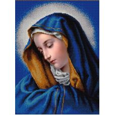 Ткань для вышивания бисером Мадонна Долорес, 29х39, Конек