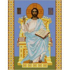 Ткань для вышивания бисером Господь Вседержитель на Престоле, 20х25, Конек