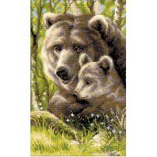 Набор для вышивания Медведица с медвежонком, 22x38, Риолис, Сотвори сама