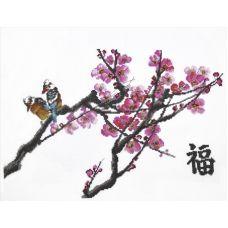 Набор для вышивания Ветка сакуры, 50x32, Овен