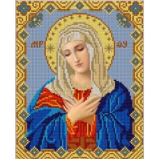 Ткань для вышивания бисером Богородица Умиление, 20х25, Конек