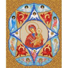 Ткань для вышивания бисером Богородица Неопалимая Купина, 20х25, Конек