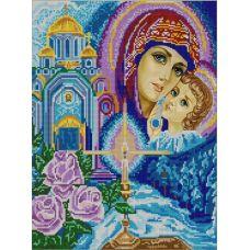 Ткань для вышивания бисером Богородица, 29х39, Конек